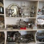 Silver serving pieces.  Many more silver items throughout the store